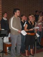 Bij het koor